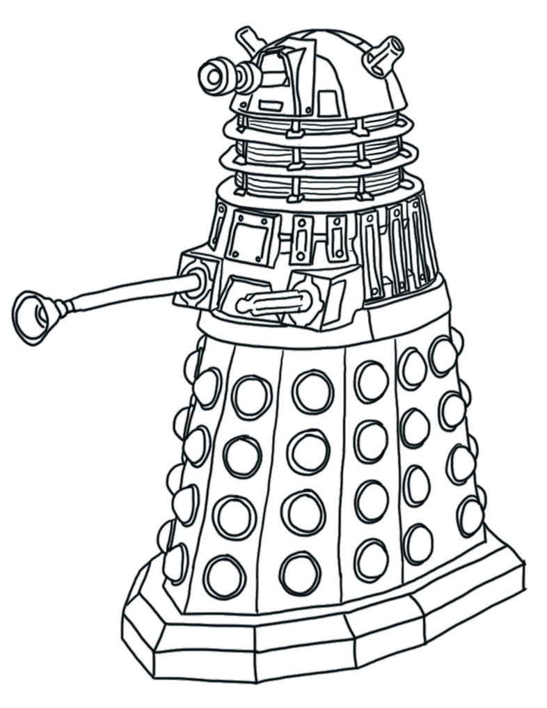 786x1017 Doctor Who Dalek Coloring Pages