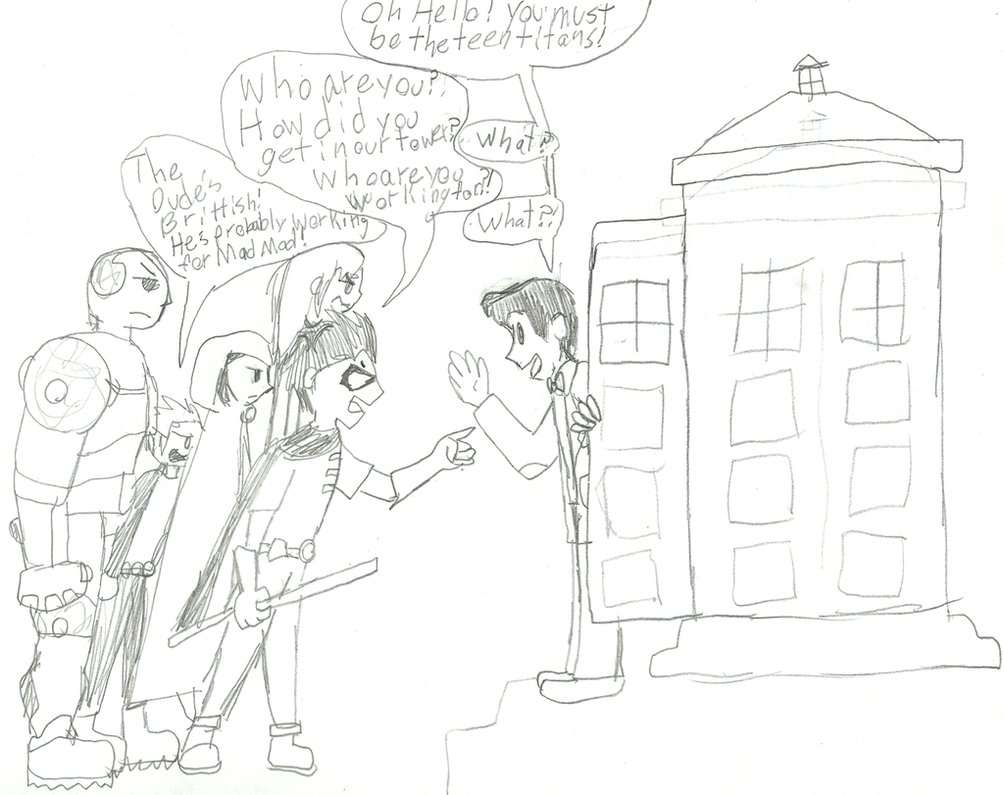 1004x795 Rule 21 Of The Doctor's Tardis The Teen Titans By Artdirector123