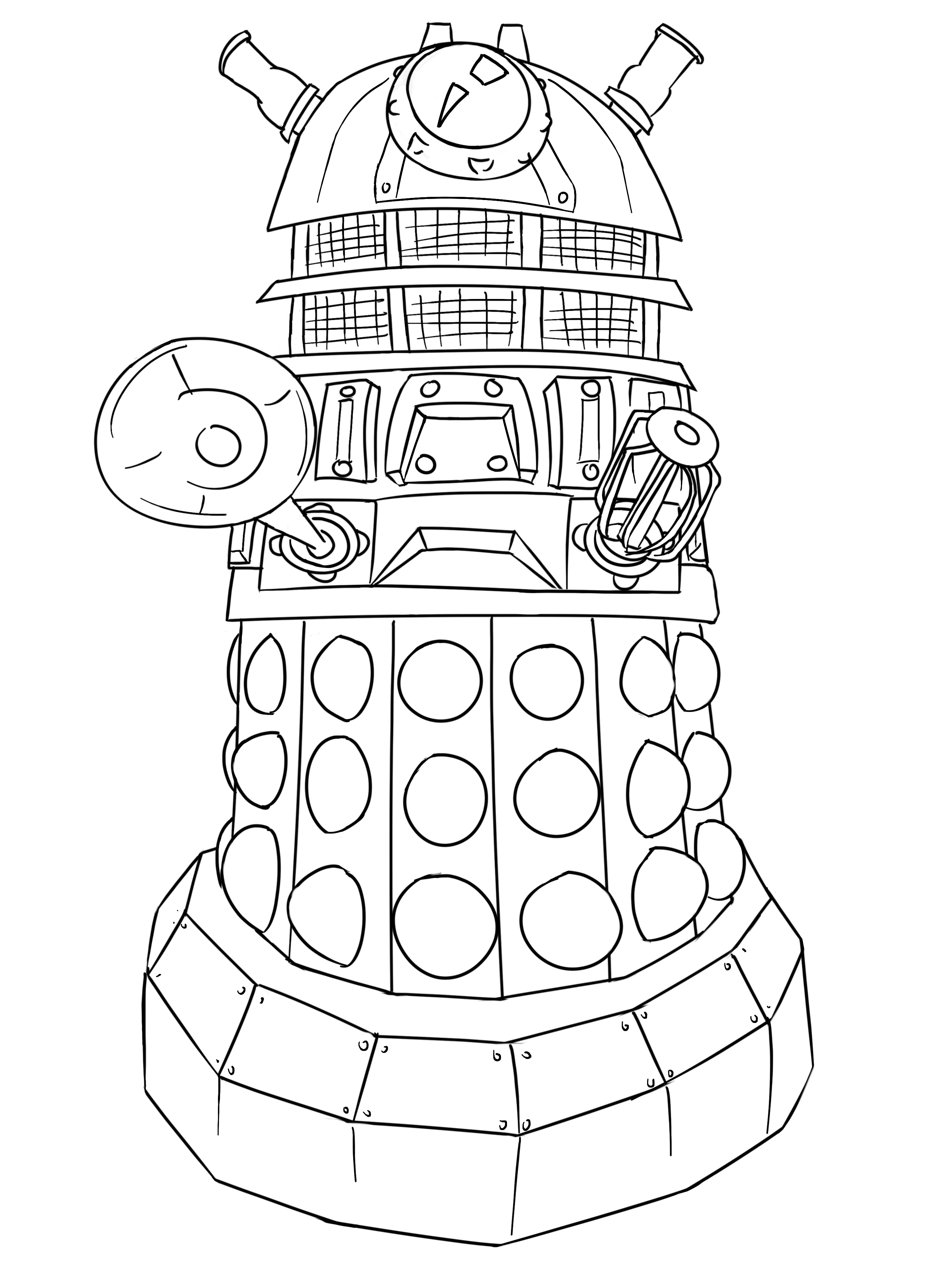2704x3598 Tardis Coloring Pages