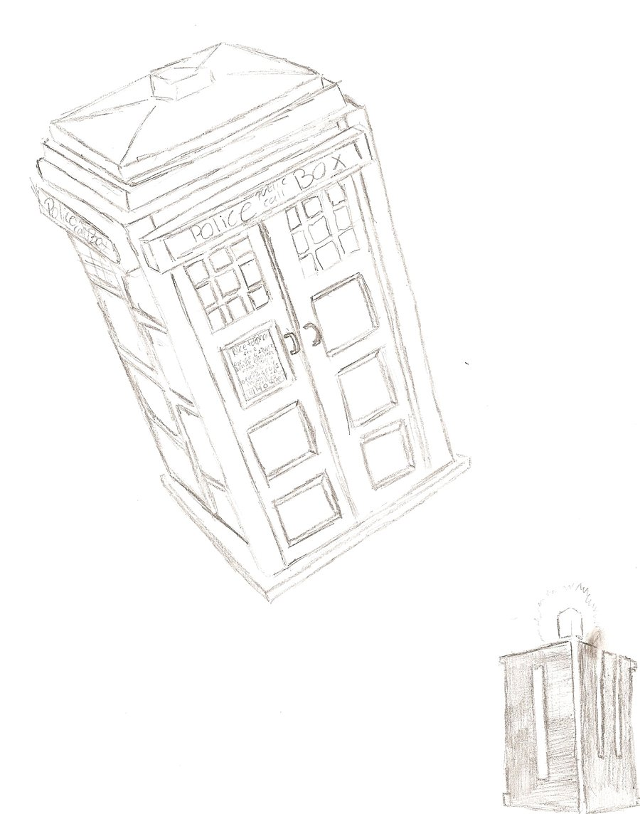 900x1144 The Tardis Sketch 1 By Dogonmahhead
