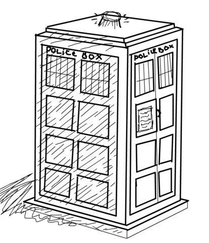 413x480 The Tardis Coloring Page Free Printable Coloring Pages