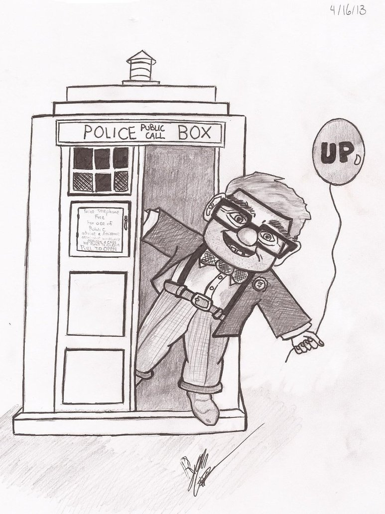 773x1033 Up (Carl Fredricksen In The Tardis) By Rmgiven