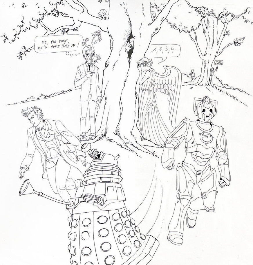 872x916 Doctor Who Hide And Seek By Dameeleusys