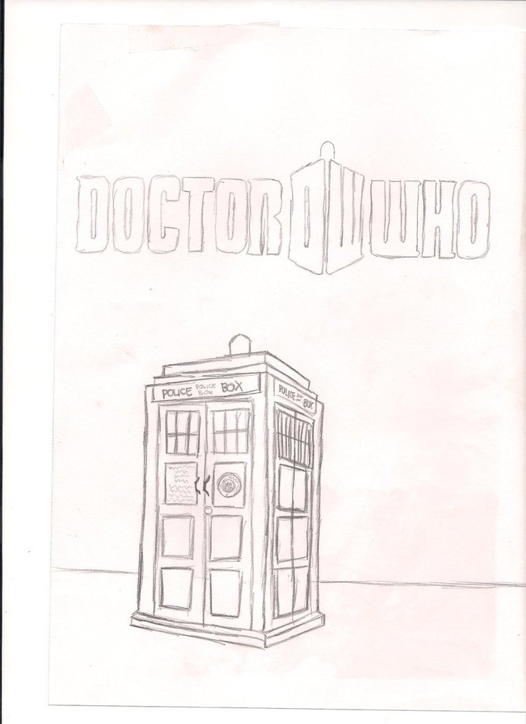 762x1048 Doctor Who Logo And Tardis By Emoforeverxxx