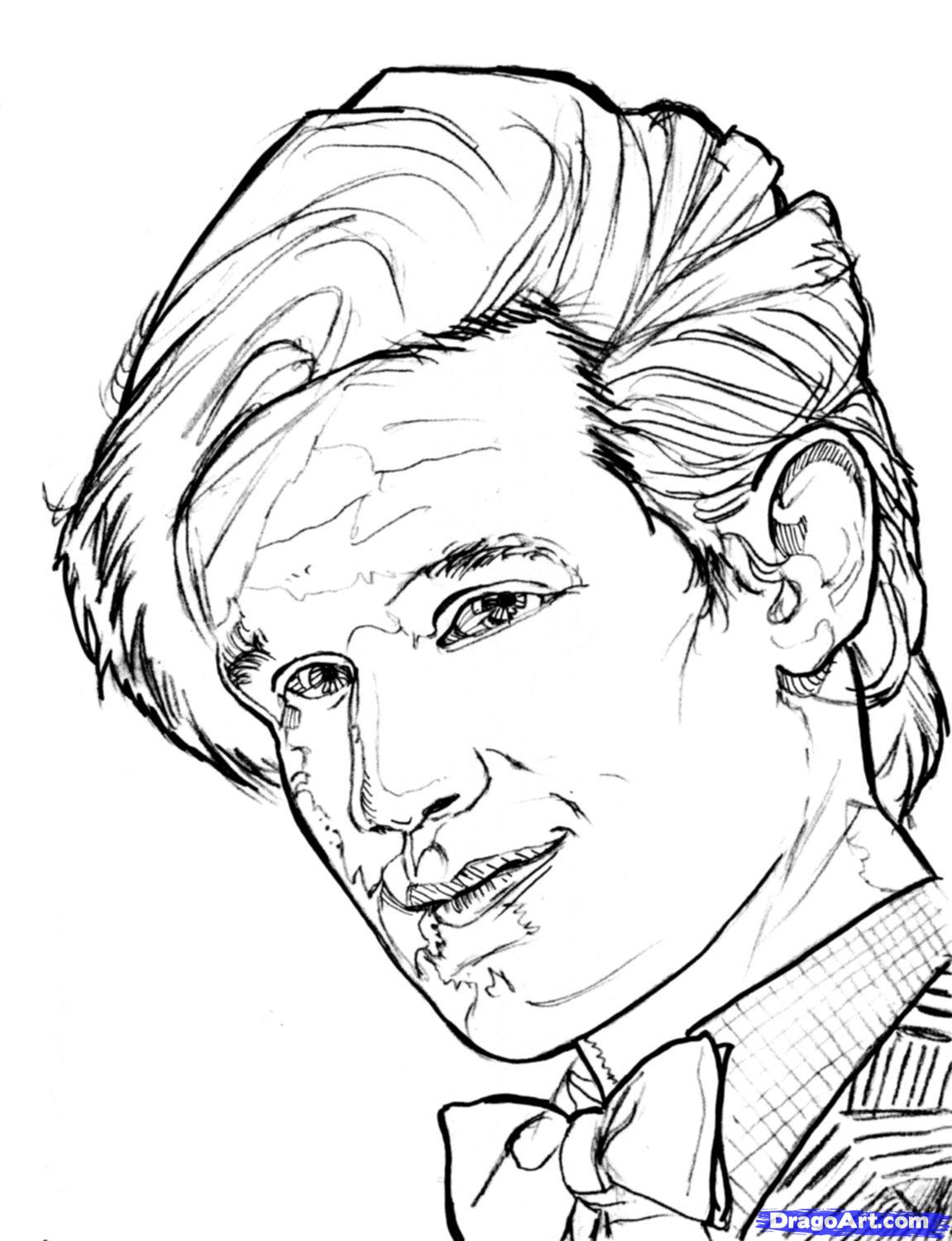 1151x1499 Doctor Who Silence Colouring Pages Artsy Fartsy