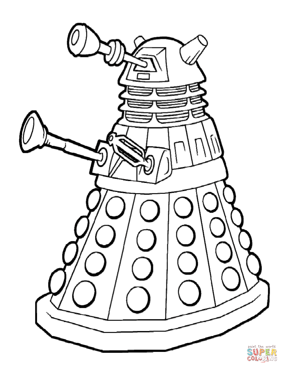 912x1184 Dalek Emperor Coloring Page Free Printable Coloring Pages