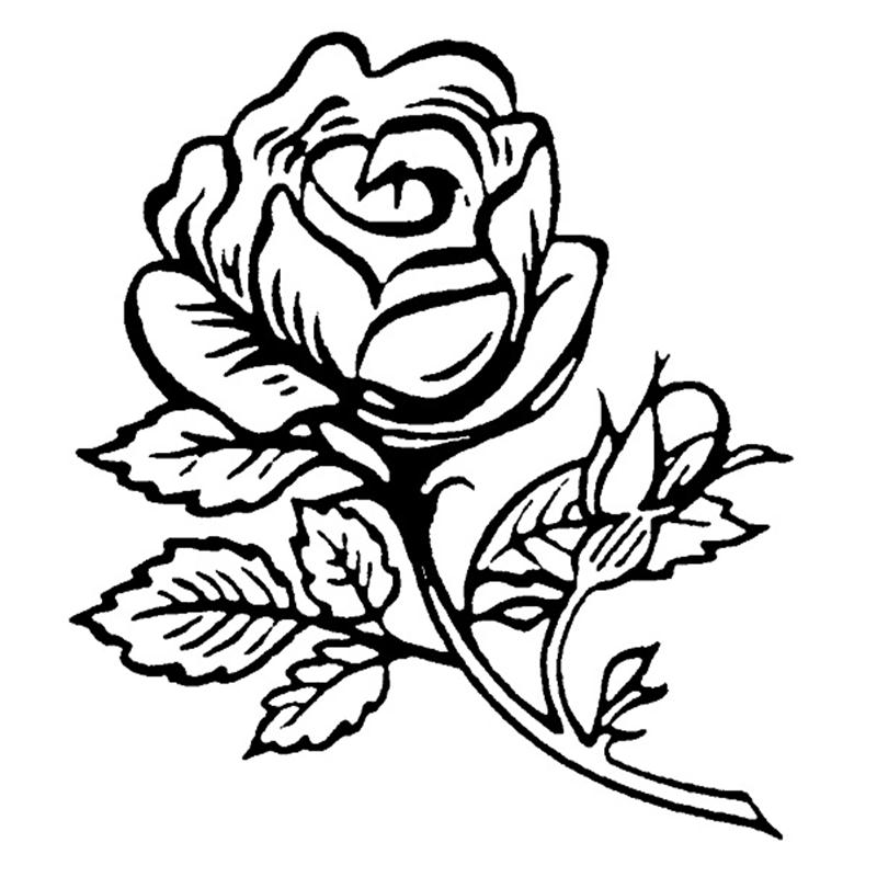 800x800 Personal Impressions Single Rose Rubber Stamp Hobbycraft