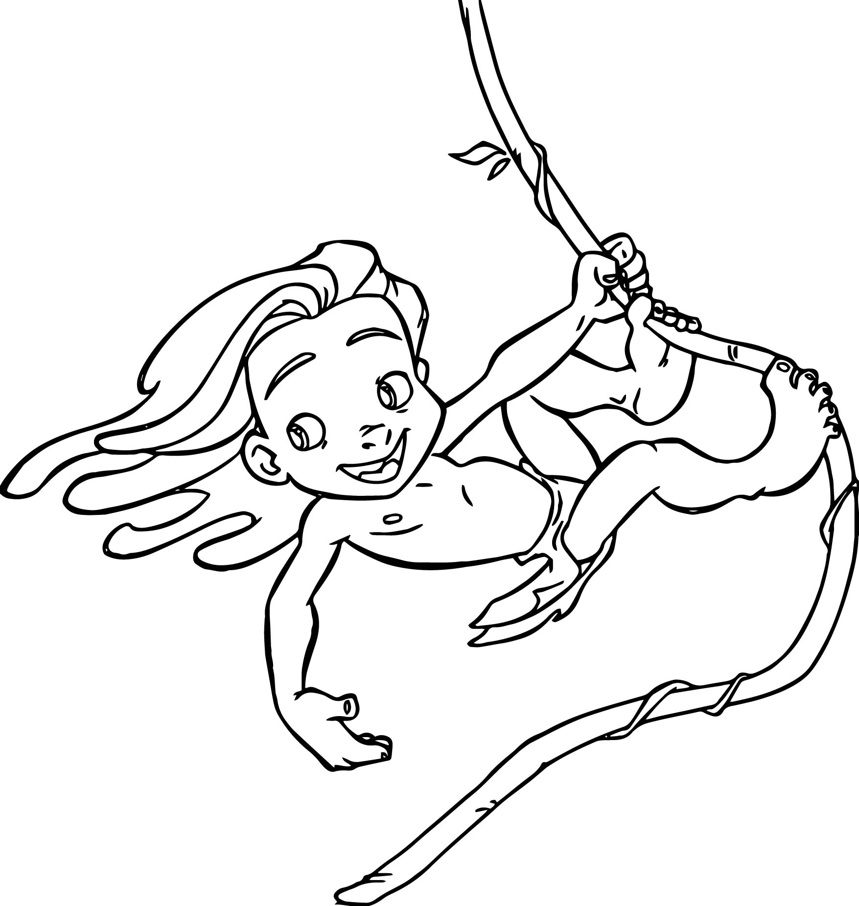 1755x1851 Tarzan And Jane Coloring Pages Wallpapers Lobaedesign Printable