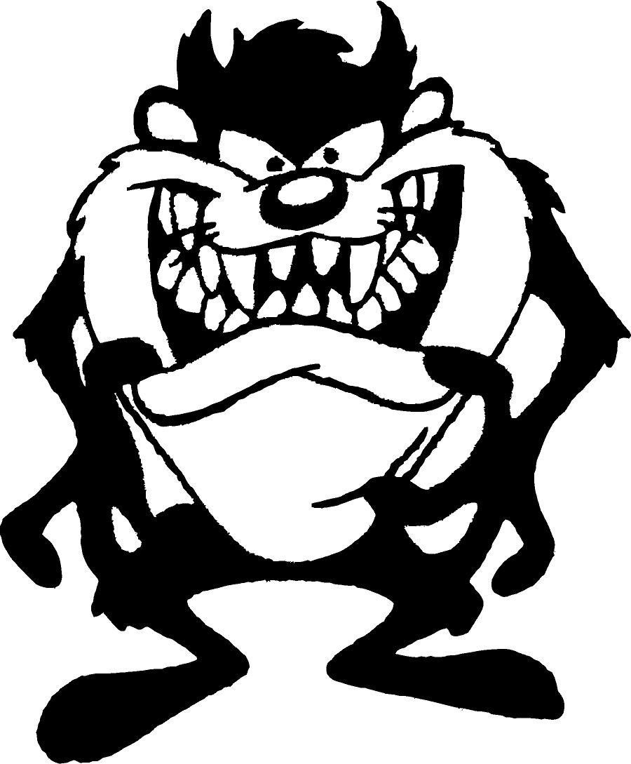 Tasmanian Devil Drawing At Getdrawingscom Free For Personal Use - Taz-cartoon-coloring-pages