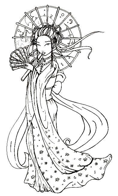 394x656 Cool Tattoo Zone Japanese Geisha Tattoo Designs Gallery