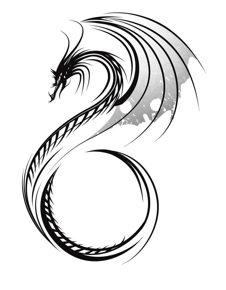 736x942 Dragon Tattoo Art