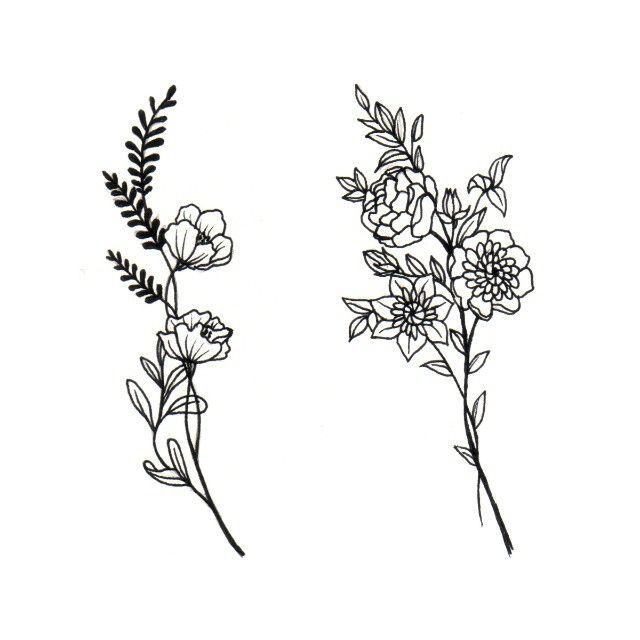 640x640 Flower Drawings For Tattoos Elaxsir