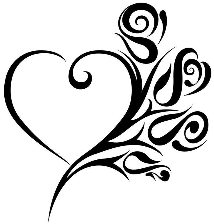 736x773 Heart Tattoo Art