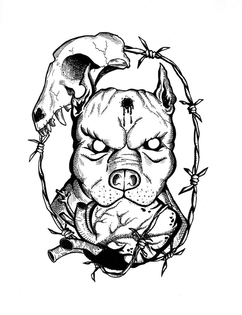 1024x1332 Pit Bull Tattoo Art Drawings Pictures To Pin