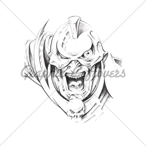 500x500 Warrior Tattoos Art Images