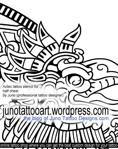 390x491 Aztec Tattoos Custom Tattoos Made To Order By Juno (Professional