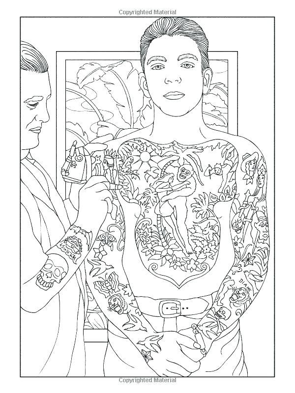 600x800 Body Art Tattoo Designs Coloring Book Plus Body Art Tattoos