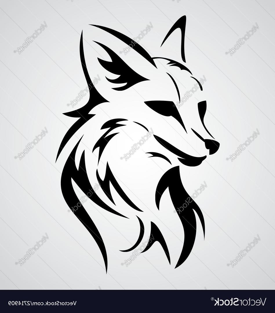 949x1080 Best Fox Tattoo Design Vector Drawing