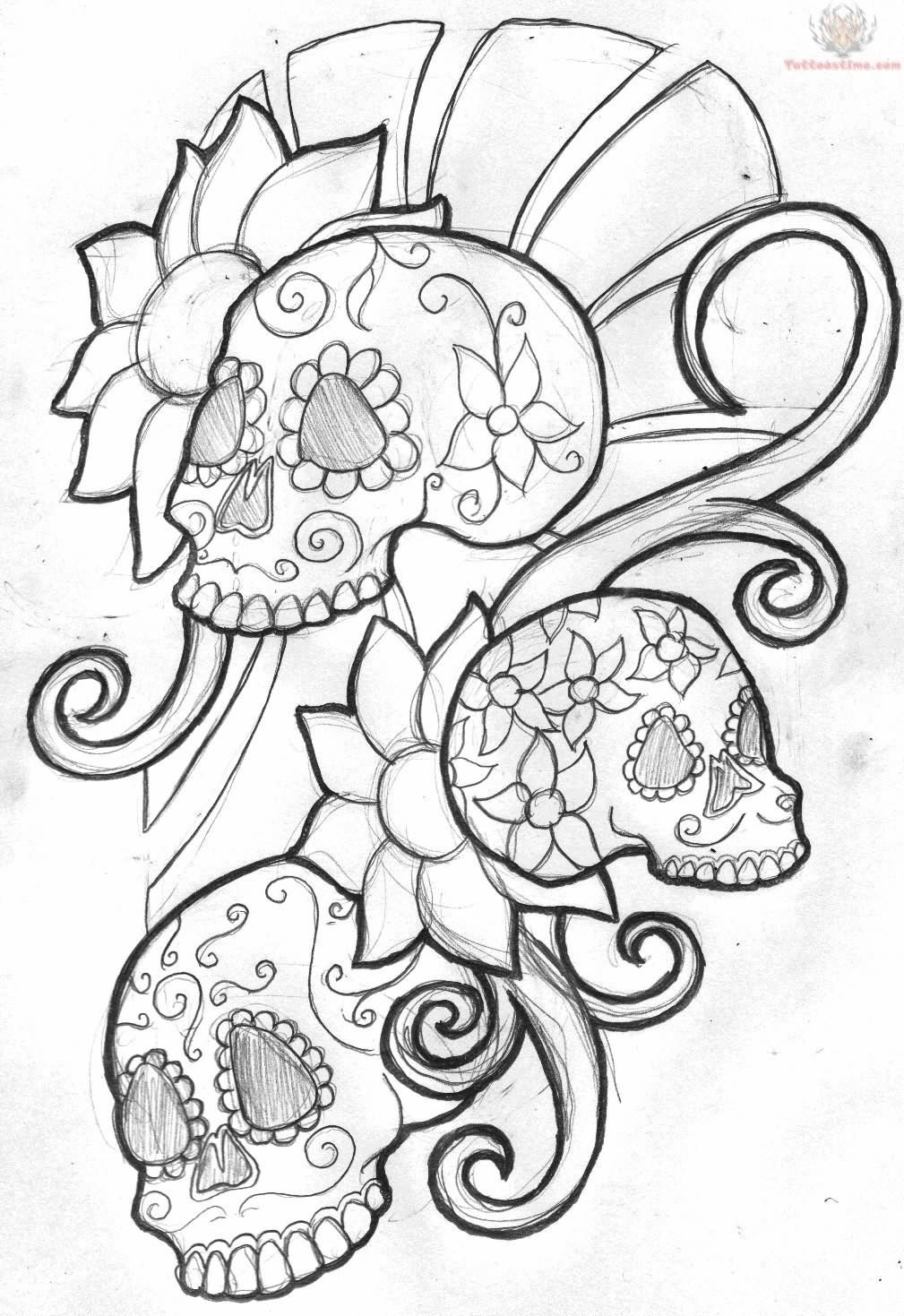 1009x1469 Cool Zombie Skull Tattoo Drawings Drawings Tagged