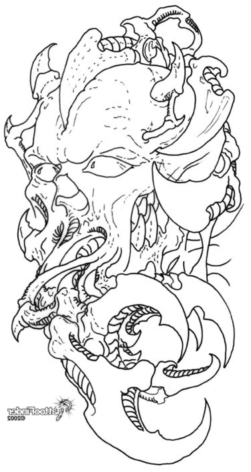 1024x1923 Skull Tattoo Designs Drawings