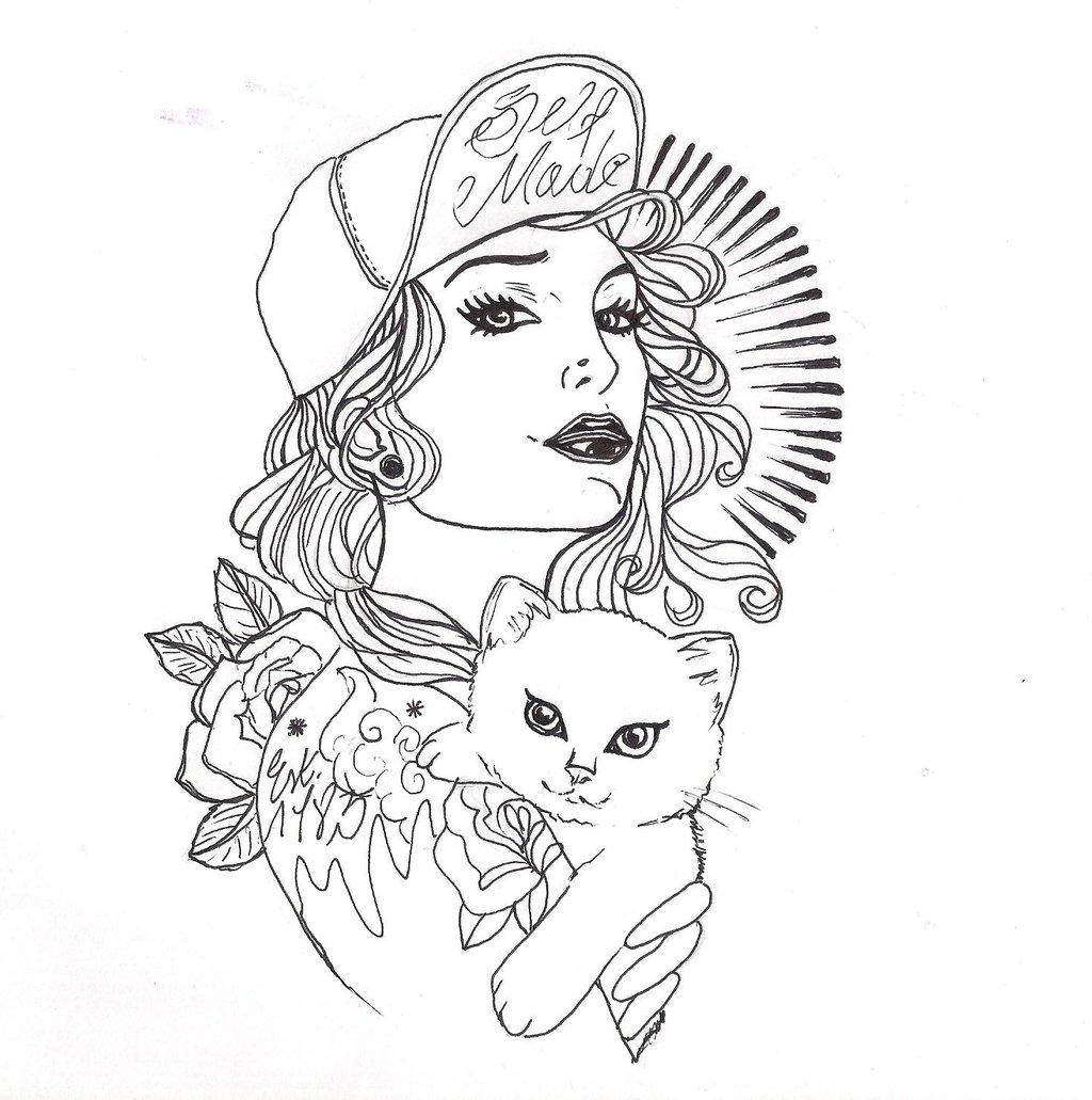 1024x1031 Cat Illustration