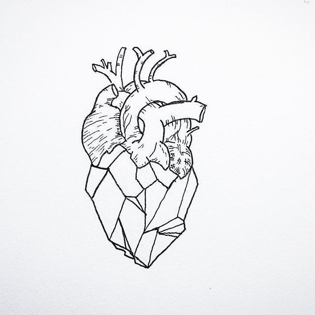 640x640 A geometric heart tattoos Pinterest Geometric heart