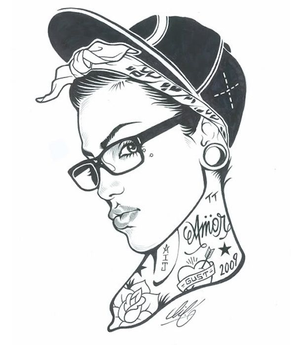 616x699 Tattoo sketch Women with Ink
