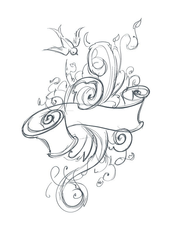 600x779 Vector Ink Anyone Create an Abstract Tattoo Design in Adobe