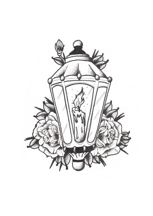 500x707 52+ Lantern Tattoos Designs