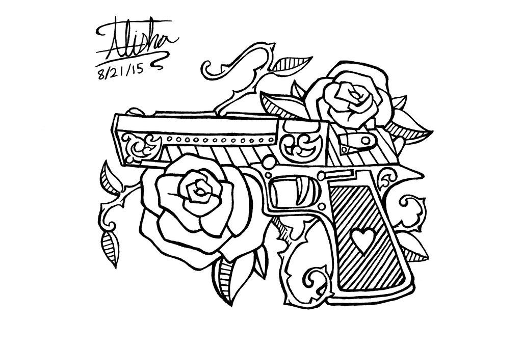 1024x683 Gun Tattoo