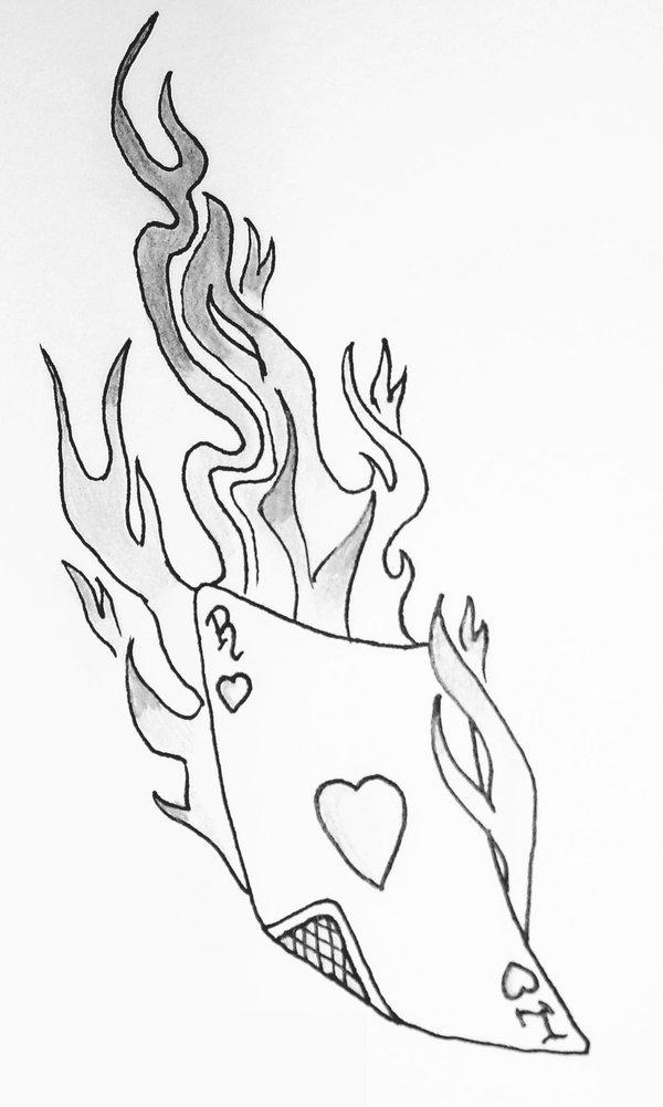 600x1001 Flame Tattoo Design Stencils