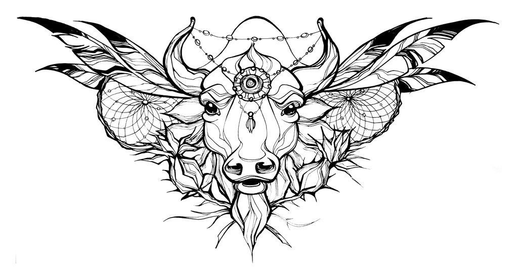1024x539 Tattoo Sketch By Jeanne Saar