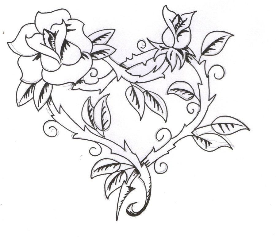 900x772 Black Rose Tattoo Designs Ideas Photos Images