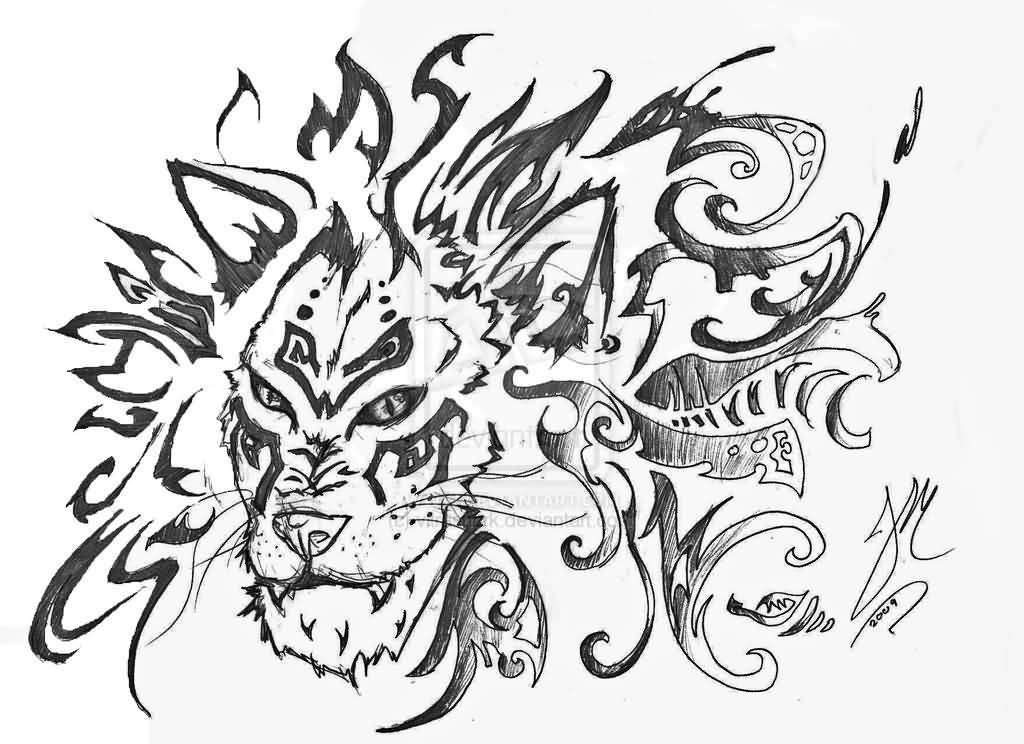 1024x744 Best Ever Lion Tattoo Design On Paper