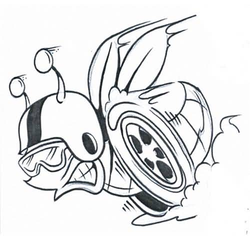 500x500 Insect Tattoo Design On Paper Wonderful