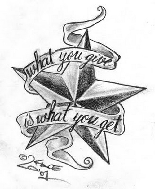 Exceptionnel 500x610 Word Star Tattoo Designs ~ Paint Your