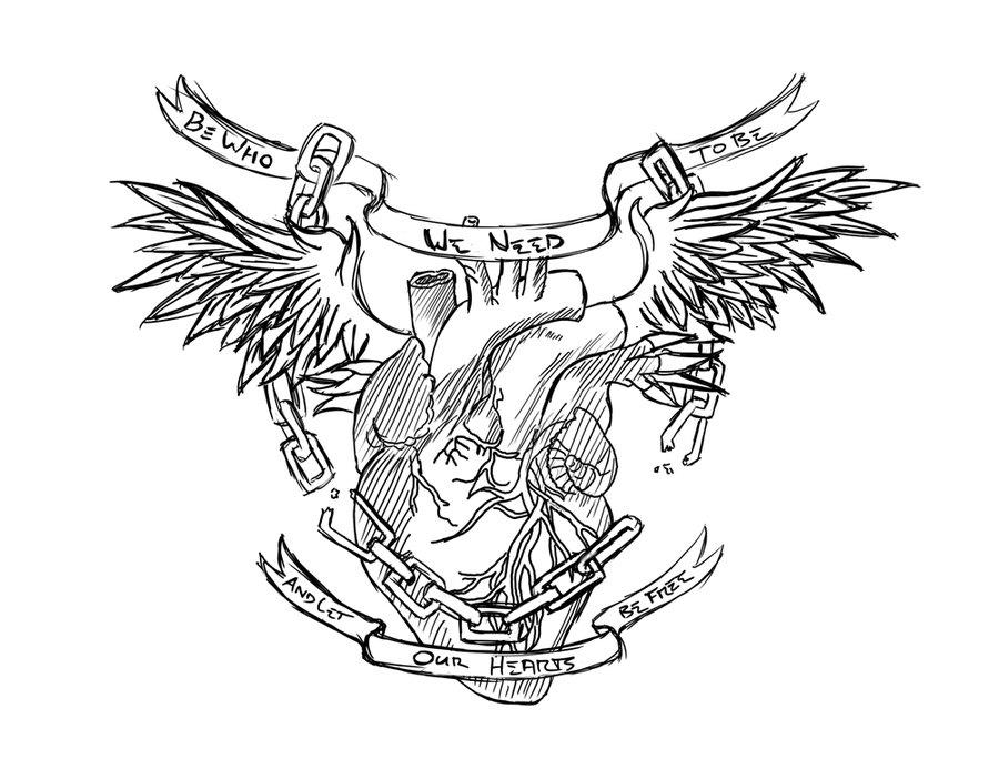900x693 Chestpiece Tattoo Linework By Facelessangel
