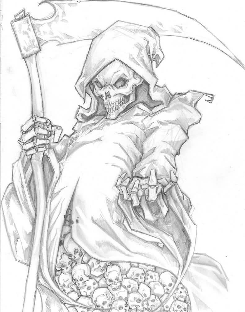 791x1009 Grim Reaper Tattoo Fantastic Drawing