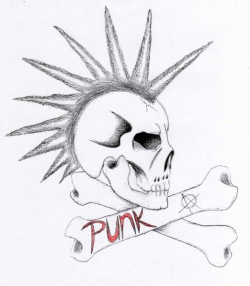 500x572 Punk Tattoo Designs And Ideas