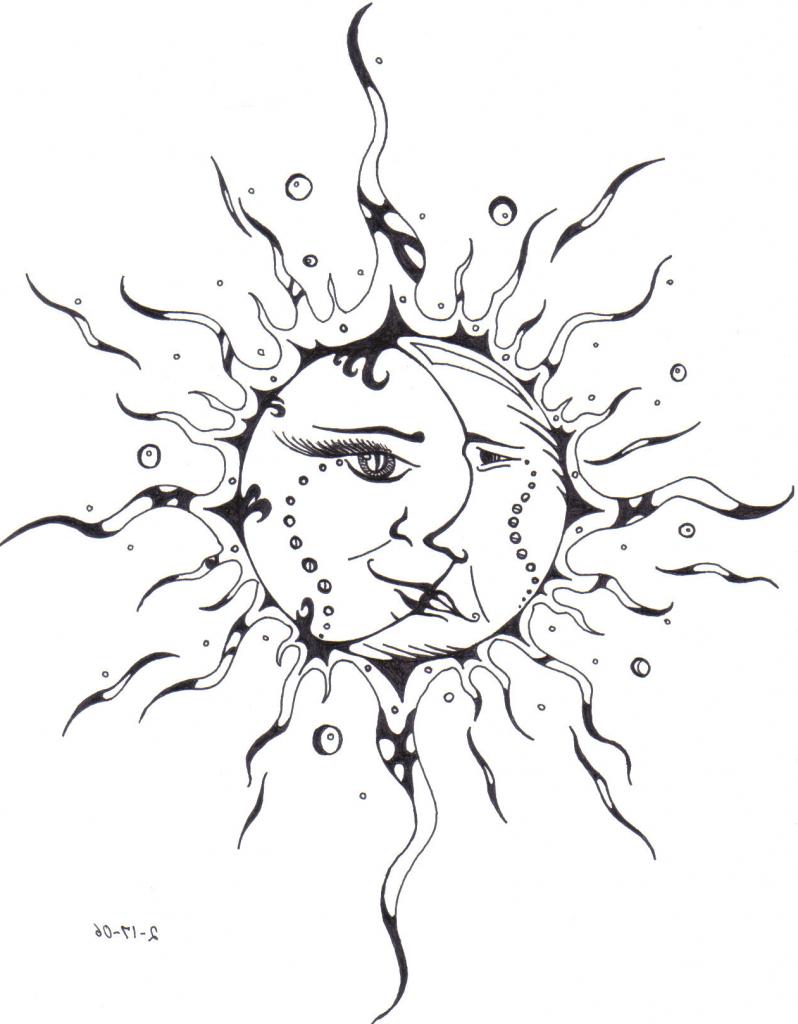 798x1024 Sun And Moon Drawings Sun And Moon Drawing Sun Moon Tattoo Faerone