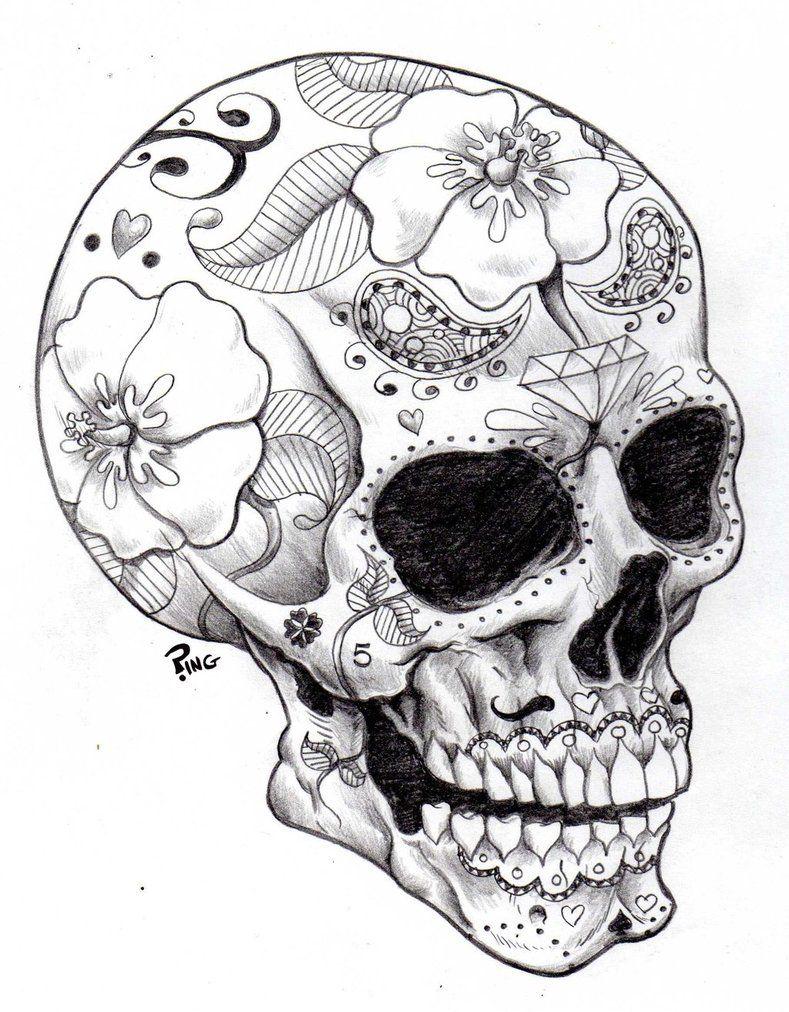 789x1012 Sugar Skull Ping By Pingriff On Art + Design