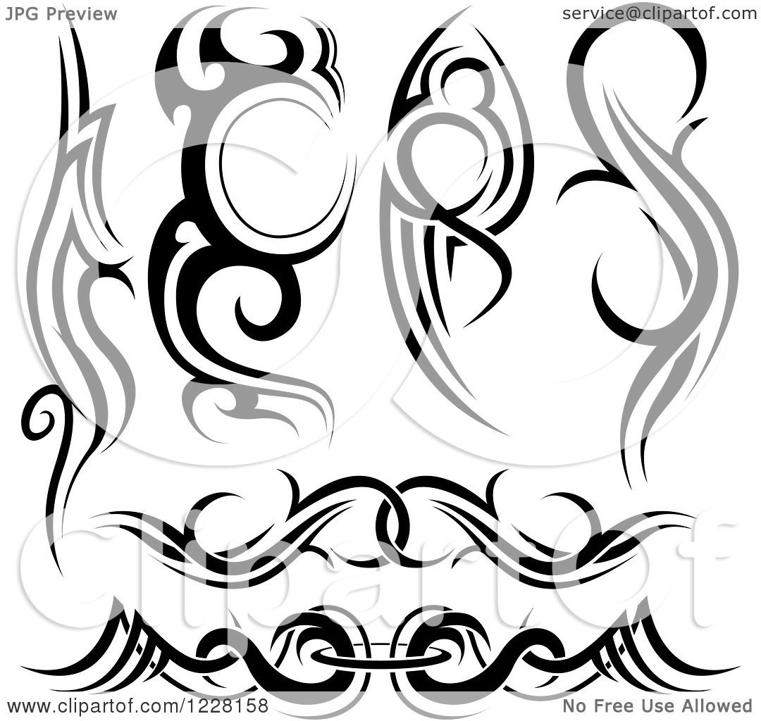 1080x1024 Clipart Of Black And White Tribal Tattoo Designs 2