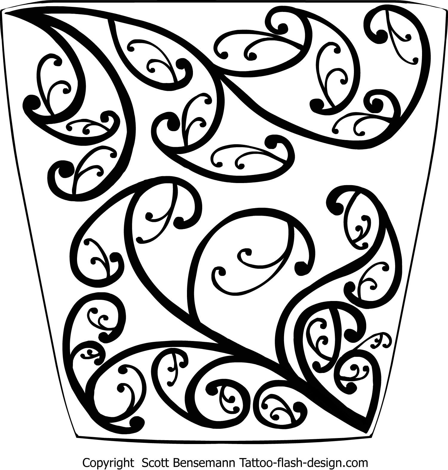 1500x1574 Maori Koru Pattern Sleeve Free Flash Tattoos