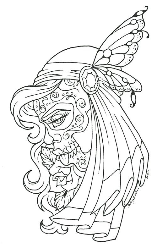 500x789 Flash Tattoo Coloring Pages Plus Musical Skull Tattoo Flash Art