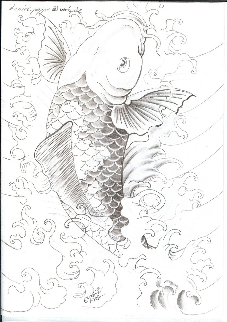 750x1065 Koi With Water Tattooflash By 2face Tattoo
