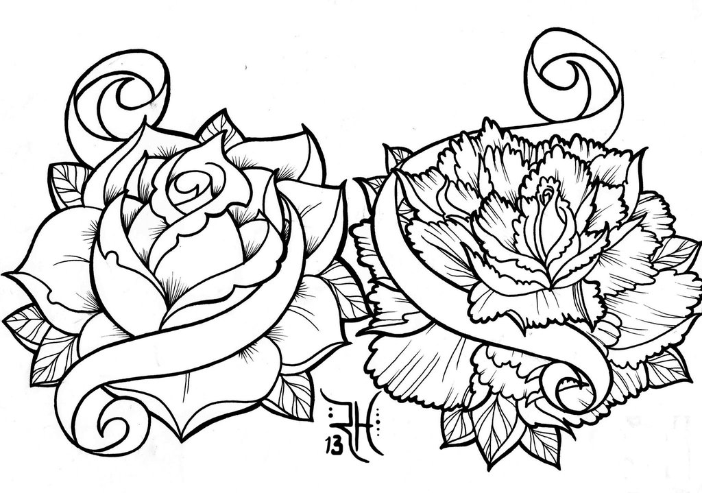 Line Drawing Tattoo Flash : Tattoo flash drawing at getdrawings free for