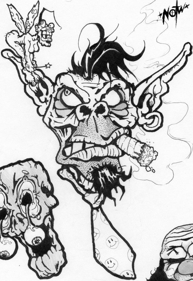 740x1080 Tattoo Flash Drawing