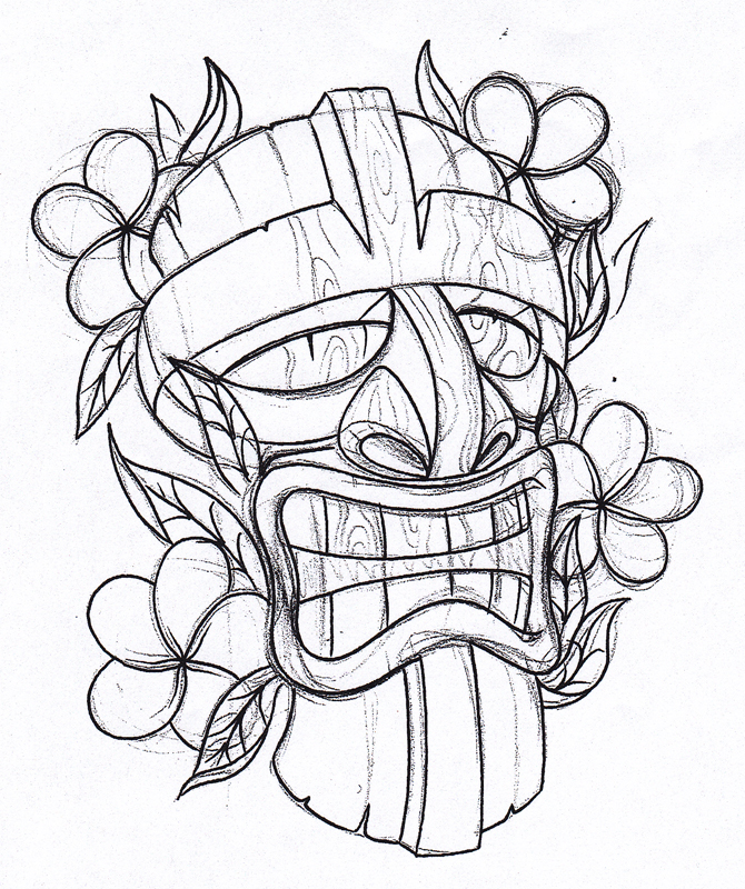 670x800 Draw A Tiki Tattoo Pictures To Pin On 1