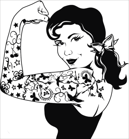 Tattoo Girl Drawing At Getdrawings Com Free For Personal Use
