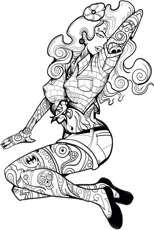 Tattoo Girl Drawing at GetDrawings.com | Free for personal use ...
